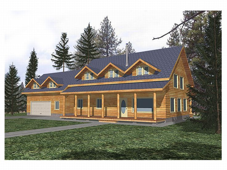 Log Home Design, 012L-0008