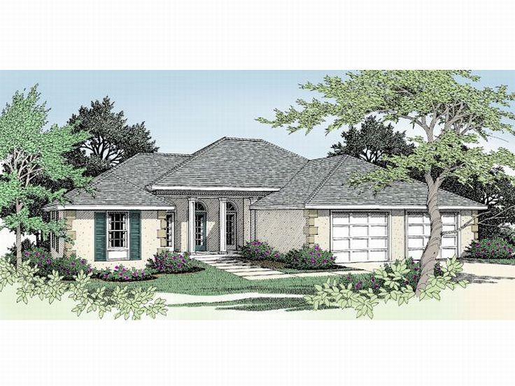 Sunbelt House Plan, 026H-0009