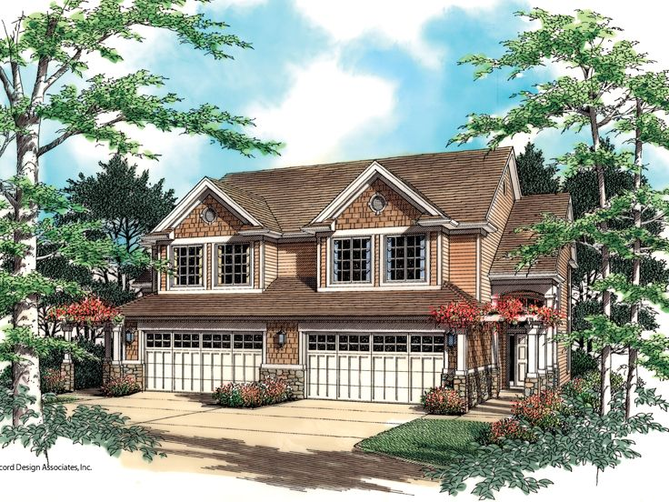 Duplex House Plan, 034M-0001