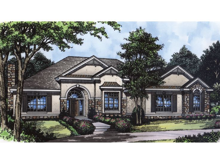 European House Plan, 043H-0086