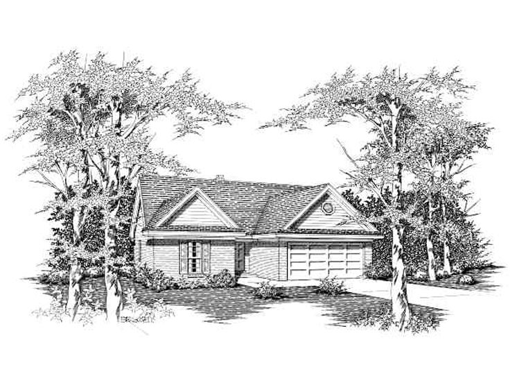 One-Story Home Design, 061H-0018