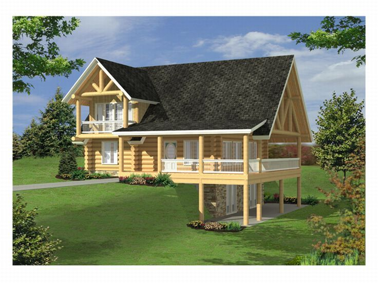 Log House Design, 012L-0051