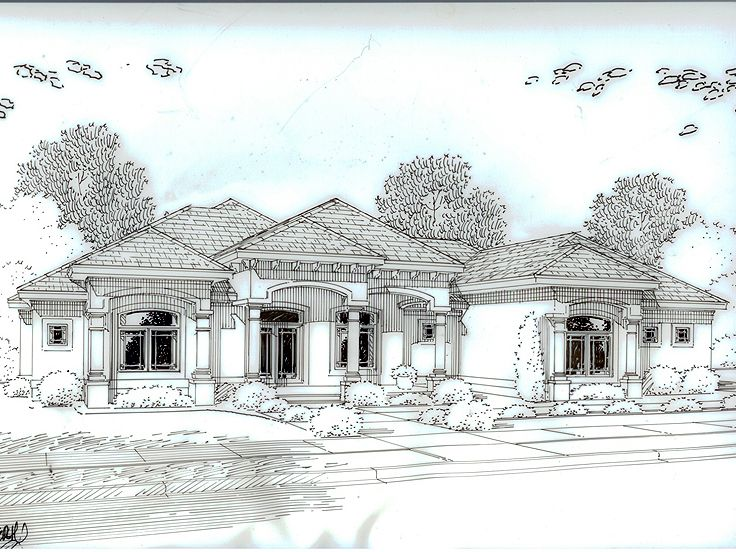 Sunbelt House Design, 050H-0088