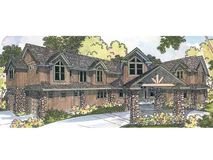 Craftsman House Plan, 051H-0083