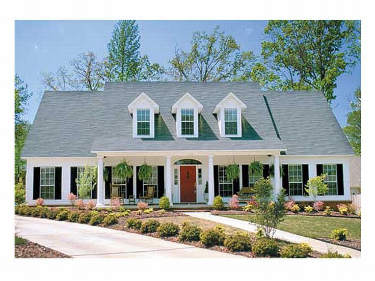 Symmetrical country house plans house plans for Symmetrical house plans