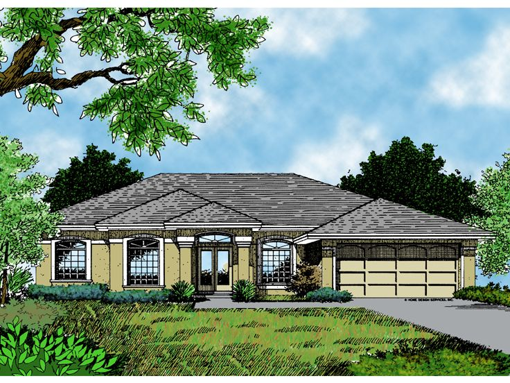 Sunbelt House Plan, 043H-0051