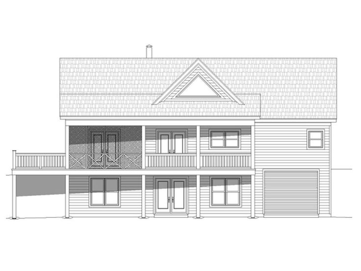 Mountain house plans mountain home plan ideal for empty for Mountain house plans rear view