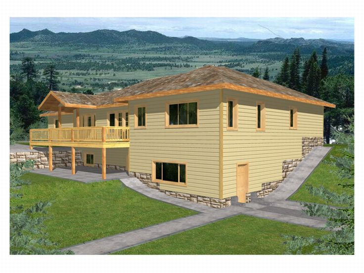 Sloping Lot House Plan, 012H-0034