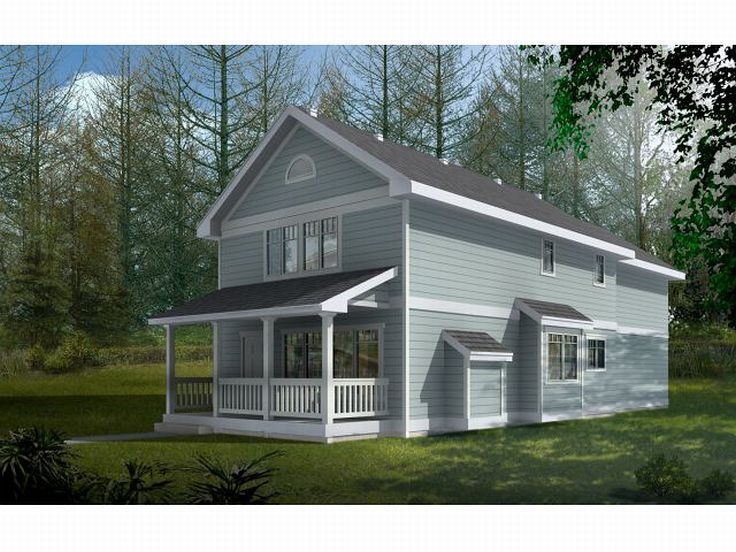 Narrow Lot House Plan, 026H-0072