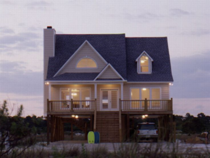 Beach House Plan, 017H-0032