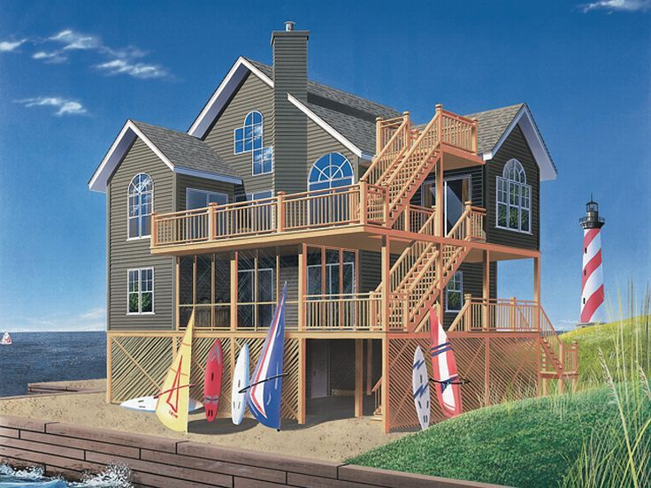 Beach Home, Left/Front, 027H-0148