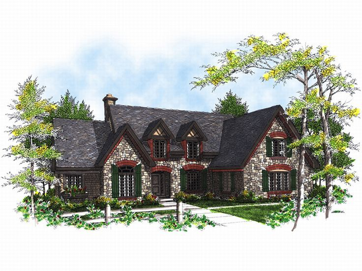 European House Plan, 020H-0037