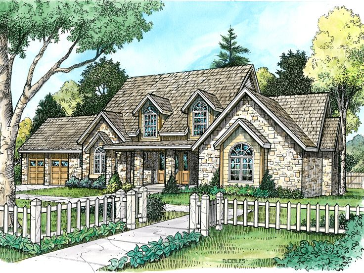 European House Plan, 008H-0022
