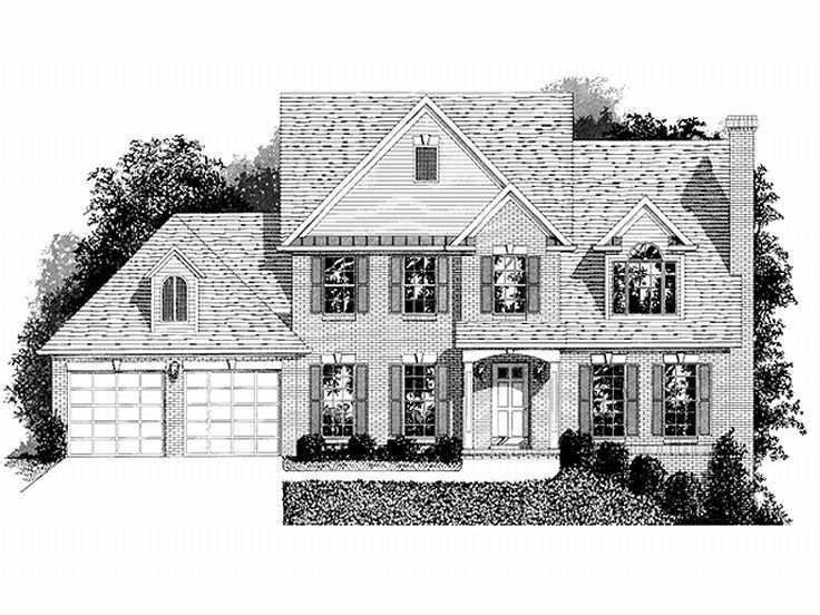 Two-Story Home Design, 007H-0044