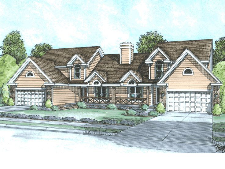 Duplex Home Plan, 031M-0010