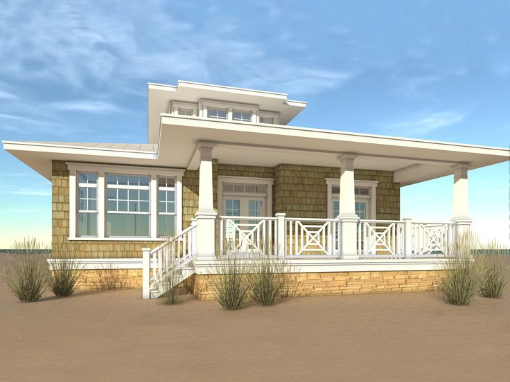 beach house plan 052h 0039 - Beach House Plans
