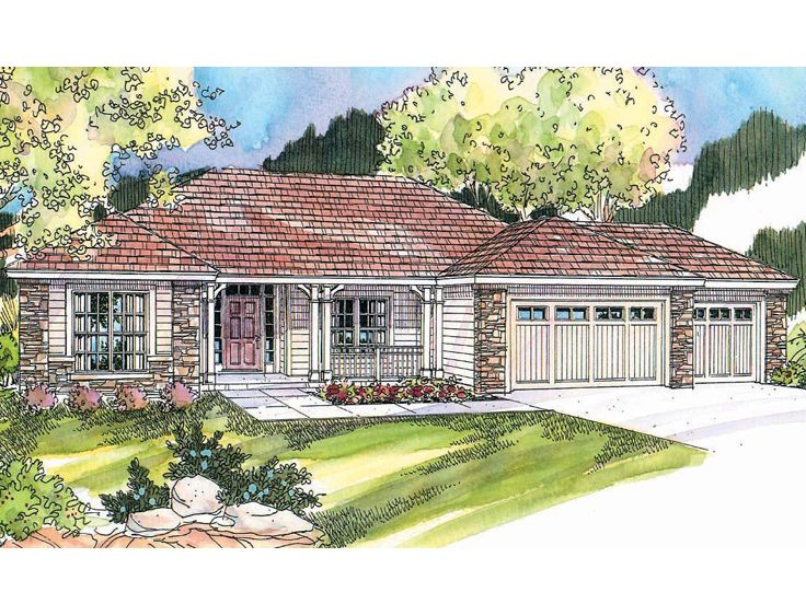 One-Story House Plan, 051H-0206