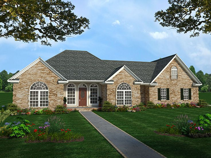 Traditional Ranch House Plan, 001H-0100
