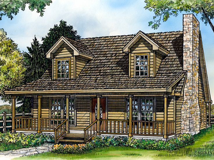 Country Home Design, 008H-0033