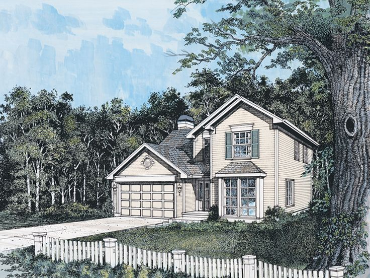 Narrow Lot House Plan, 034H-0092