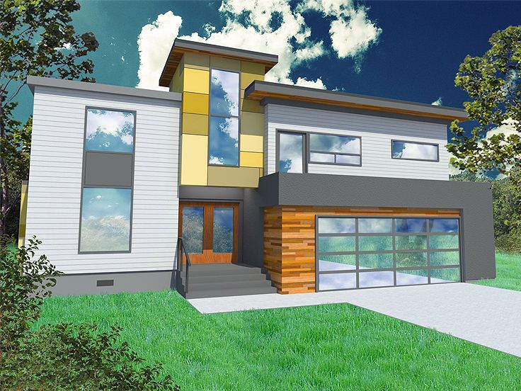 Plan 056h 0002 find unique house plans home plans and for Simple modern two story house design