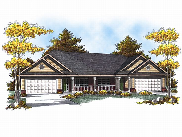 Duplex House Plan, 020M-0046