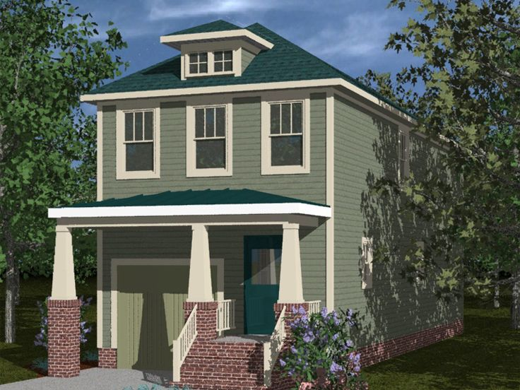 Bungalow house plans narrow lot bungalow home plan for Narrow bungalow house plans