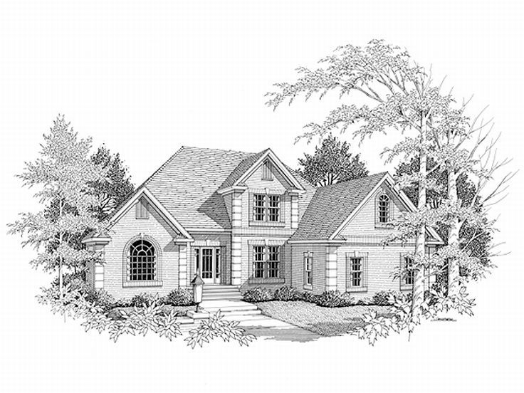 Traditional House Design, 007H-0081