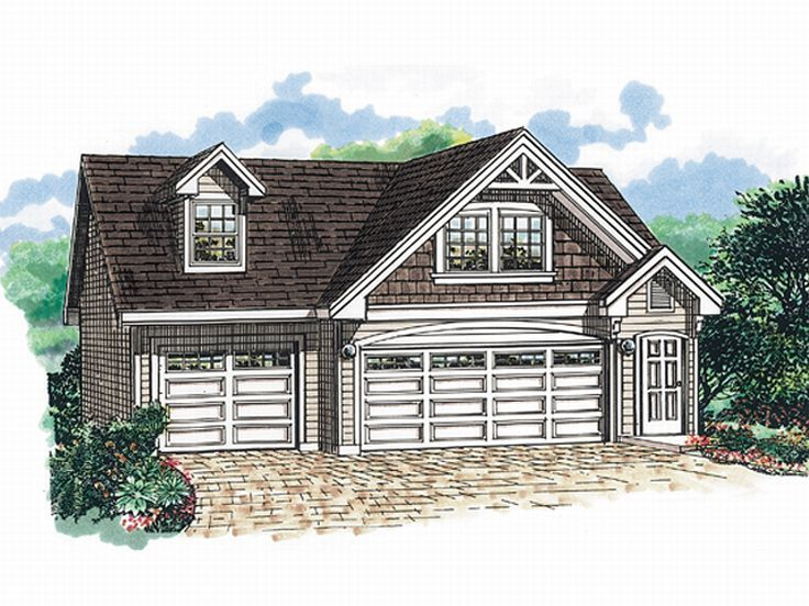 Garage apartment plans three car garage apartment plan for Three car garage house plans