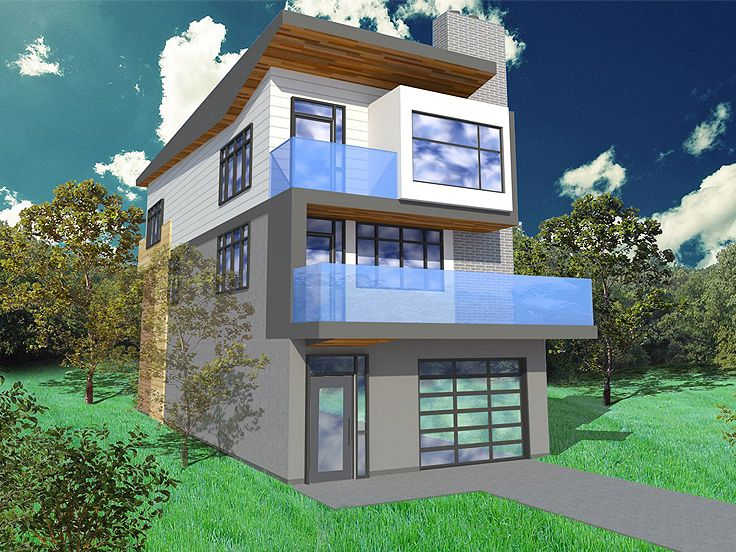 Plan 056h 0005 find unique house plans home plans and for Narrow 3 story house plans