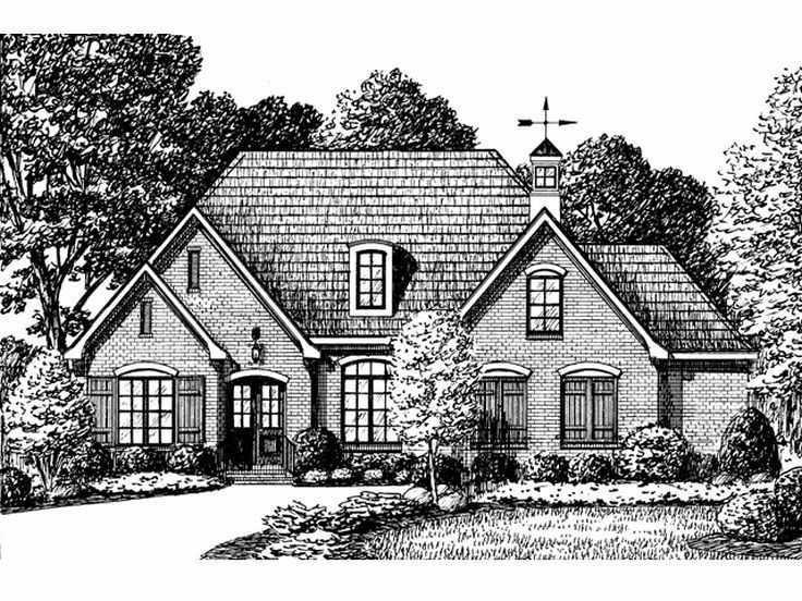 Two-Story House Plan, 011H-0044