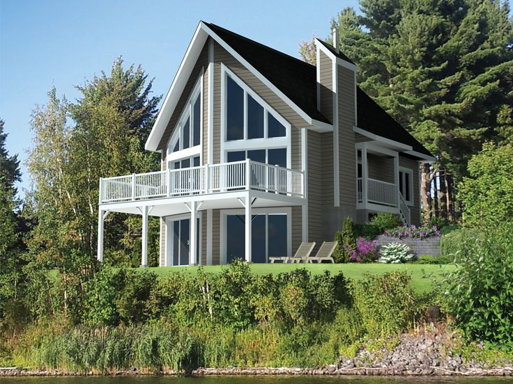 Waterfront Home Design, Left, 072H-0206