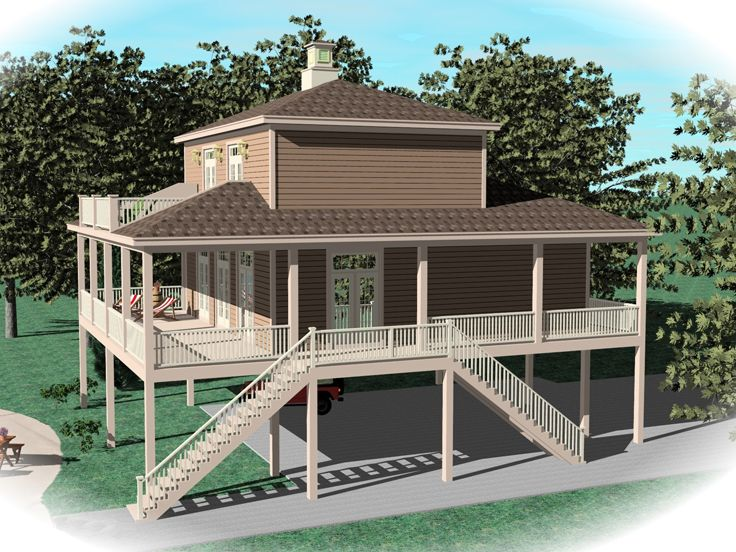 Coastal House Plans Coastal House Plan or Waterfront