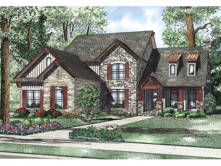 Craftsman European Home, 025H-0219