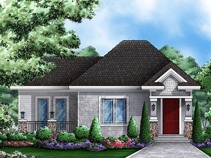 Cottage House Design, 037H-0136