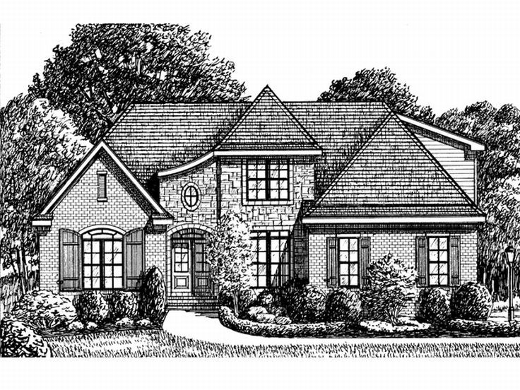 European House Plan, 011H-0030