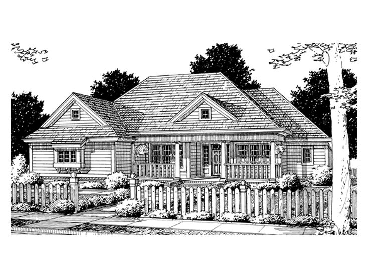 One-Story Home Plan, 059H-0051