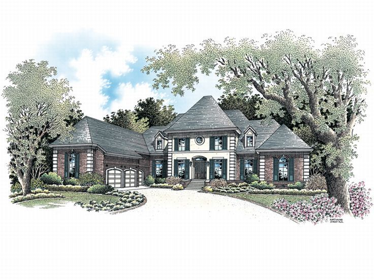 Luxury House Plan, 021H-0013