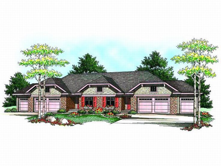 Duplex Home Plan, 020M-0051