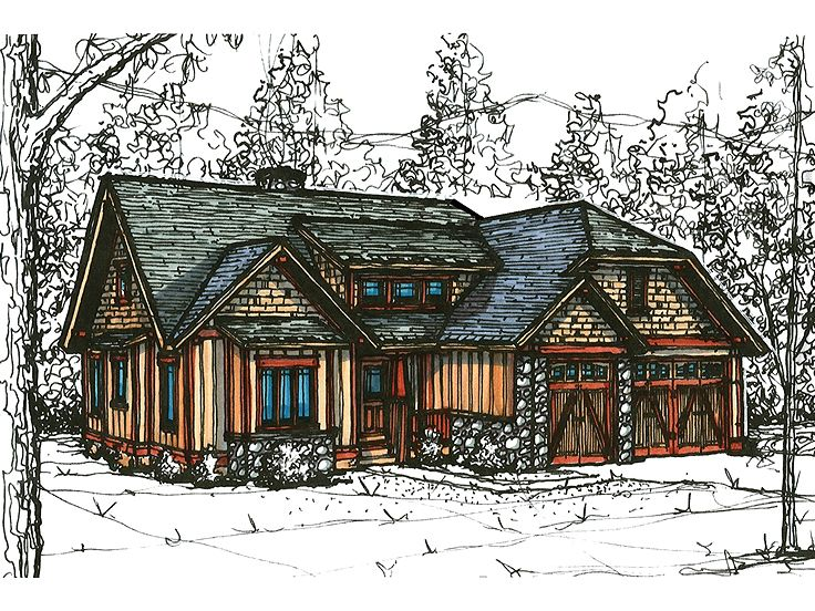 Bungalow House Plan, 025H-0198