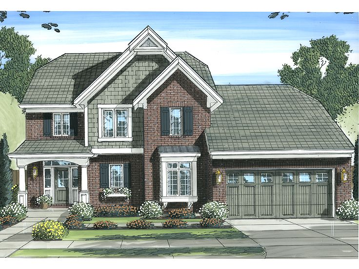 European House Plan, 046H-0057
