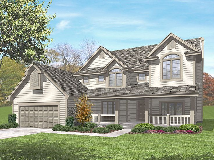Traditional Home Plan, 016H-0041