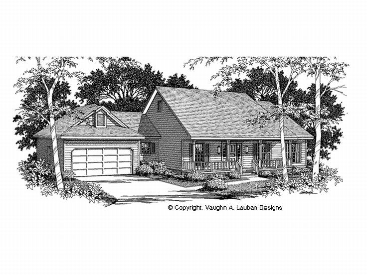 Ranch House Plan, 004H-0059