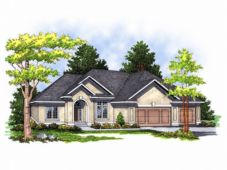 Ranch House Plan, 020H-0053