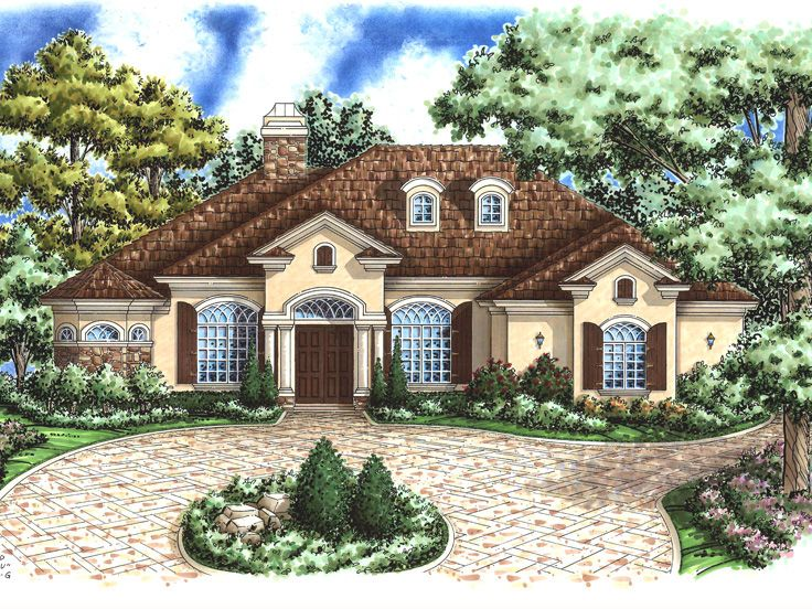 Sunbelt Home Plan, 040H-0006
