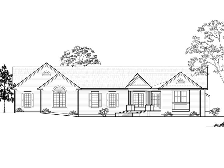 One-Story House Plan, 055H-0004