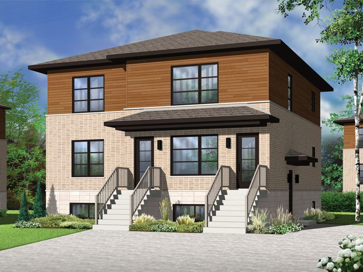 Plan 027m 0051 find unique house plans home plans and for Triplex house plans