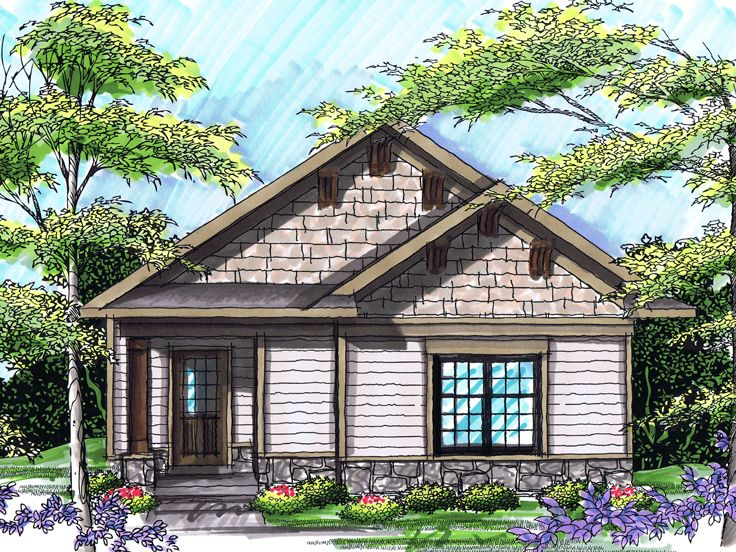 Narrow Lot House Plan, 020H-0232
