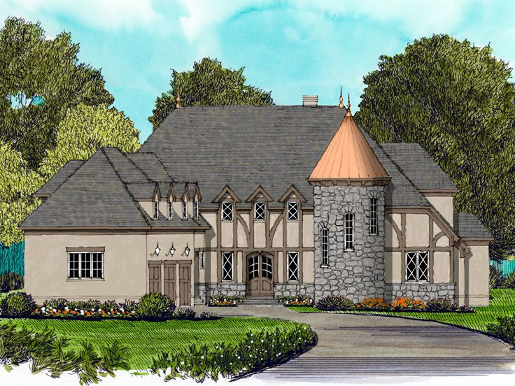 Luxury Home Plan, 029H-0128