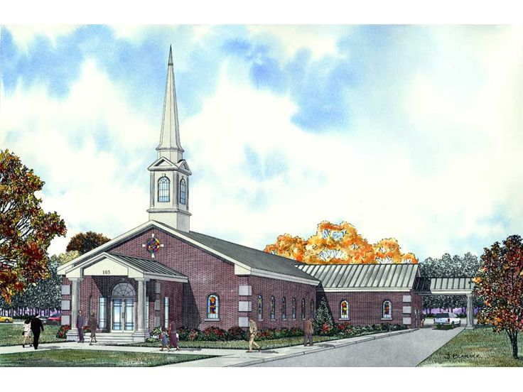 Church Building Plan, 025C-0006